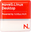 Novell Desktop 1x1 Computer label
