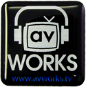 av Works 1x1 Computer Case Domed Label