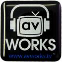 av Works 1x1 Computer Case Domed Label
