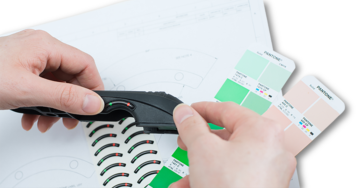 Creating a Custom Label according to your specifications of size, shape, and color.