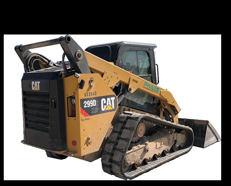 Phaze Concrete Dome Label on Heavy Construction Equipment