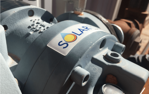 Solar Label on a Pump