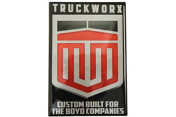 Custom Automotive Dealer Dome Label for Semi Trucks